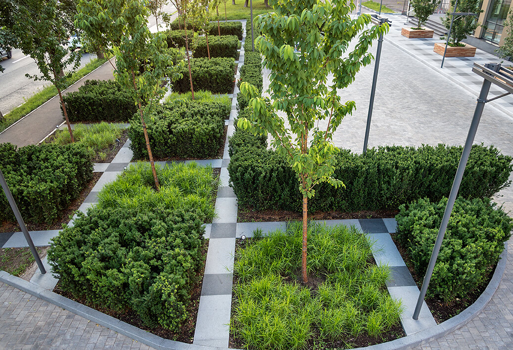 landscaped outdoor spaces